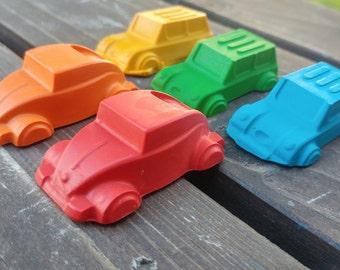 Car Crayons set of 20 - Car Party Favors - Shaped Crayons