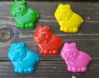 Hippo Crayons set of 50 - party favors