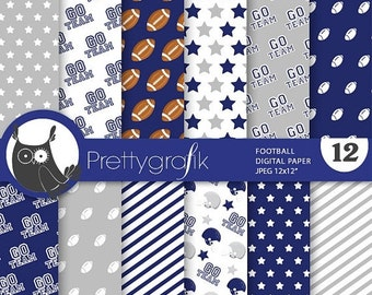 80% OFF SALE Football digital paper, commercial use, scrapbook papers, background chevron, stripes, sports, team - PS738