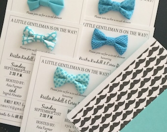 Mini Fabric Bowtie Party Invitation