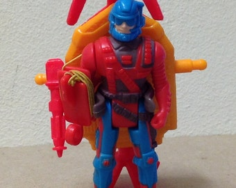 "Sky Commander toy 1980's Commander Jack Reilly Ascender Backpack Kenner KPT 1987 3"" vinyl"