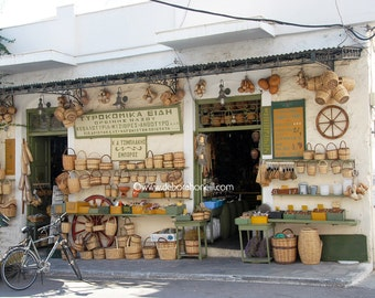 "Greece Photography ""Island Market, Naxos, Greece"""