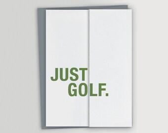 Funny Retirement Card for Golfer
