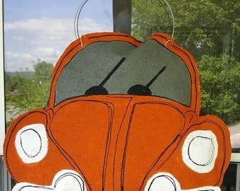 Volkswagen burlap door hanger