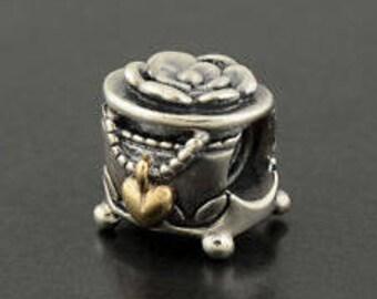 Pandora Sterling Silver Two Tone PANDORA's Box Charm