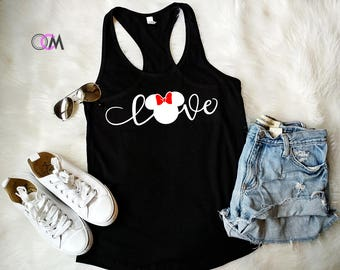 Love Disney Tank, Family Disney Shirts, Mickey Minnie Shirts, Mickey T-shirt, Minnie T-Shirt, Family Shirts, Disney Tank, Love Minnie