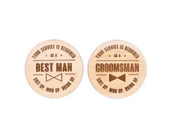 TIMBER Best Man / Groomsman Coaster