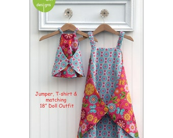 Pattern - Daisy - Jumper, T-shirt & Doll dress Paper Sewing Pattern by Olive Ann Designs (OAD96)