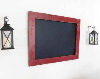 EXTRA LARGE CHALKBOARD - Restaurant Chalk Board - 30x40 - Rustic Kitchen Decor - Shown in Barn Red - Choose Color