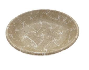 "Small tan bowl with ""zentangle-inspired"" design- glazed ceramic bowl -kitchen bowl - oil dipping bowl -prep condiment bowl-trinket bowl"