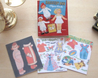 raggedy ann dollhouse paper doll book miniature 12th scale vintage