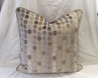 22x22Chenille  polka dots Pillow
