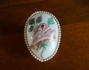 Glass Egg Antique Hand Painted