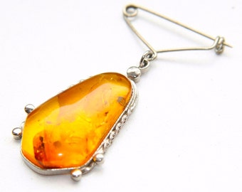 Antique Amber Brooch from French psychic medium's estate