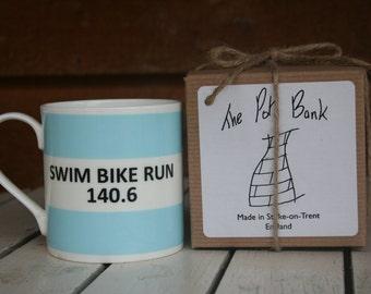 Swim Bike Run 140.6 Fine Bone China Mug