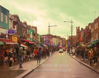 London Photography Camden Town - Fine Art Contemporary Photography Print, England, Market, Shops, Street, People, Colourful, Vibrant, Urban