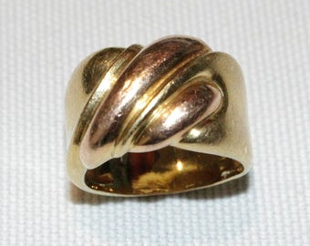 18ct yellow and rose gold dress ring