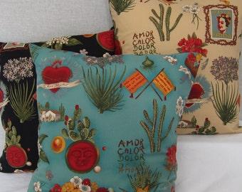 """Frida kahlo Viva Frida large  cushion cover (18"""" x 18"""")"""