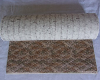 Double Sided Quilted Fabric with Extra Heavy Stabilizer for Sewing Purses