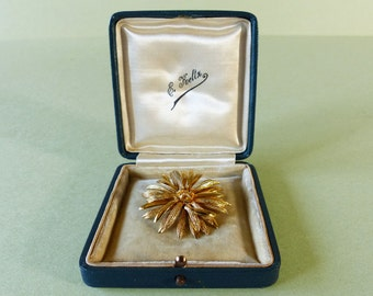 Vintage French Gold Plated Brooch 1960s