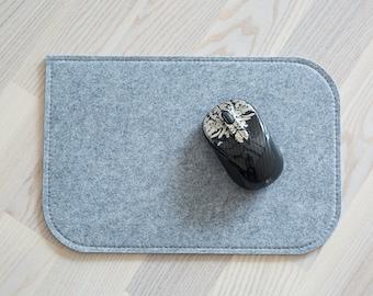 Felt mouse pad, light grey 4mm