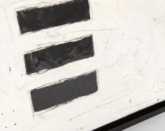 "Original Black & White Abstract Painting // ""Blank Spaces"""