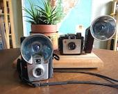 Vintage 1950s Camera Lot - Kodak Brownie Starflash and Kodak Brownie Holiday Flash