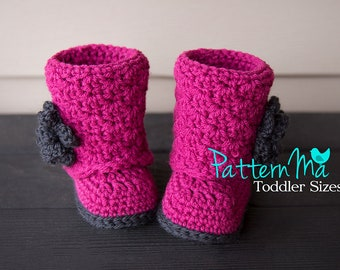 Crochet Toddler Boot Pattern PDF