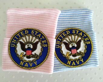 Navy Newborn Hospital Hat-United States Navy-baby girl navy((SOLD)) hat-baby boy navy hat