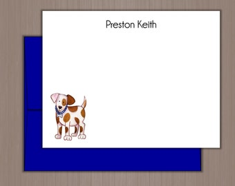 Personalized Note Card Set, Flat Note Cards, Personalized Stationery, Personalized Stationary, Thank you Notes, Puppy Note Cards, Dog, Kids