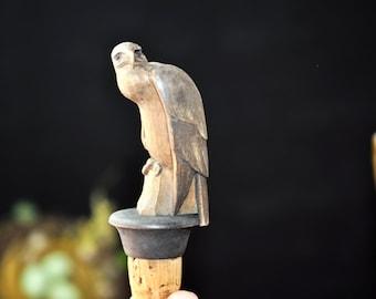 Auburn Wine Stopper, War Eagle, Fun Carved Bottle Stopper,  Wine Stopper, Hand Carved  Gift Idea for a fun friend, #312