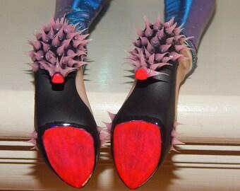 Custom BJD Heels - UV GLOW Silicone Spikes