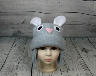 Adult Size Bunny Fleece Hat