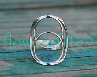 Vesica Pisces II ring - Stainless Steel
