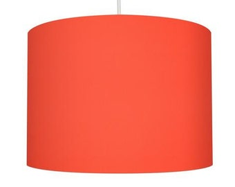 Orange Linen Fabric Drum Lampshade, Small Lampshade 20cm - Large Lampshade 40cm or Custom Order