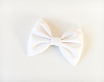 White bow white bow tie