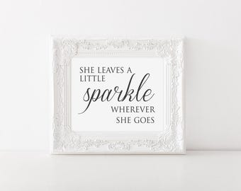 She Leaves a Little Sparkle Wall Art // Nursery // Wall Decor // Signs // Art // Hanging
