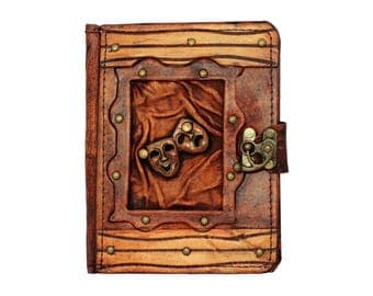 Happy Sad Drama Mask Pendant Brown Leather Kindle Touch Paperwhite Voyage Kindle 4 5 Case Cover Vintage Hard cover Wallet Cases Covers Lock