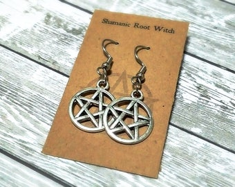 Pentacle Earrings ~ Magickal Talismans ~ Be the Witch ~ Pagan Pride ~ Coven Gift ~ Treat Yoself!