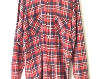 Vintage Classic Plaid Flannel Button Down