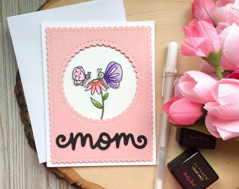 Mothers Day Card, Handmade Card, Moms Day Cards, Mothers Day Cards, Butterfly Card, Handmade Cards, Greeting Card, Card for Mom, Grandma