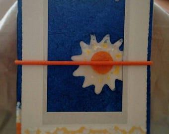 Bright Blue and Orange Blank Journal