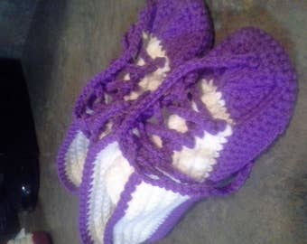 Ladies Purple Sneaker Slipper