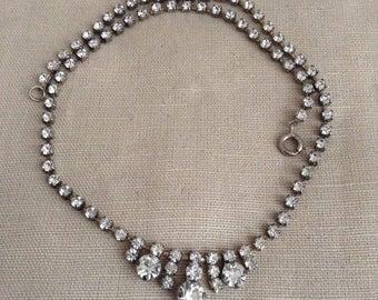 1950's rhinestone necklace.
