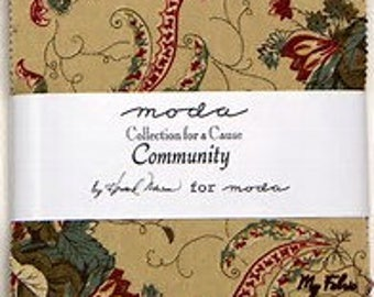 Community Collections for a Cause Charm Pack  Moda Pre-cut Fabrics Sale!!!