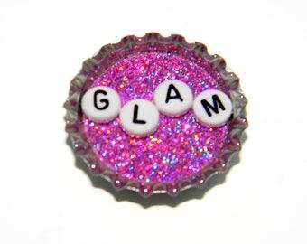 NEW Bottle Cap Magnet - Glam - Single Magnet