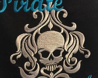 Embroidered apron, Pirate Chef