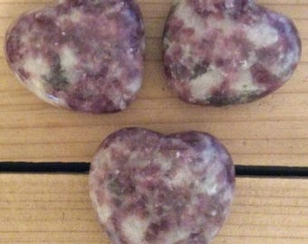 Lepidolite Gemstone Heart, Calming and Soothing Healing Stone,Healing Crystal, Chakra Stone, Spiritual Stone