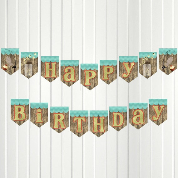 fishing banner fish happy birthday banner o fish ial fishing birthday fish birthday gone