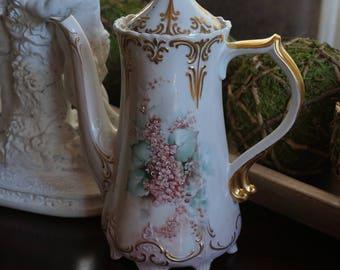 Vintage, Tall Porcelain Teapot from Japan